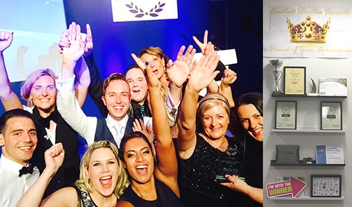 Here is Vax's contact centre team winning another award to add to their collection