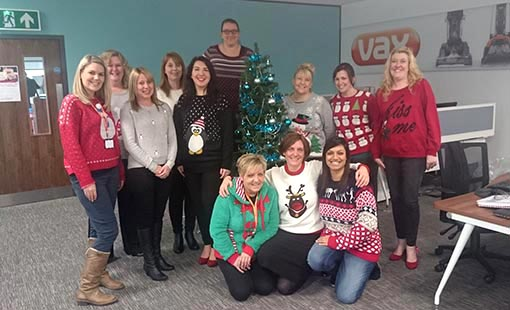 Increasing the number of homeworkers at Christmas doesn't seem to be taking the festive spirit away from the contact centre