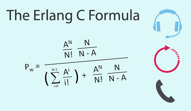 Erlang C Formula – Made Simple With an Easy Worked Example