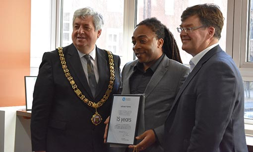 The certificates were given out by the Mayor of Nottingham!