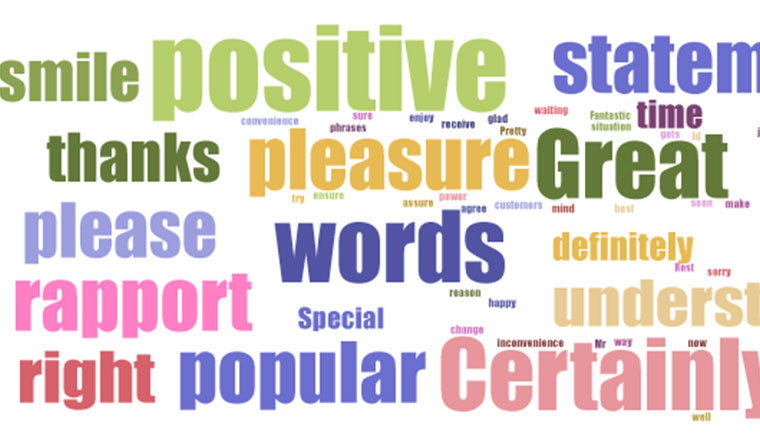 Top 25 Positive Words, Phrases and Empathy Statements