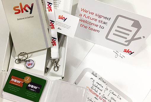 Take a look at Sky's welcome pack for yourself!