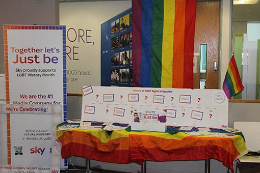 Here is an example of the LGBT promotion that happens within the contact centre