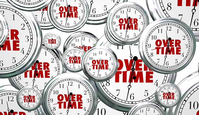 clocks with overtime