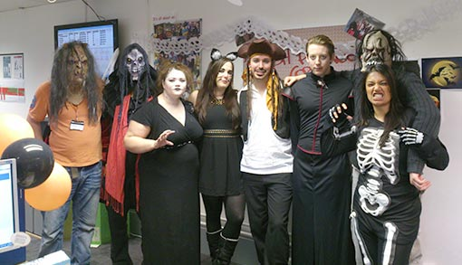 Vax's team certainly bought into their contact centre's Halloween plans