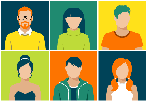 Personas are characters created to represent a section of your customer base