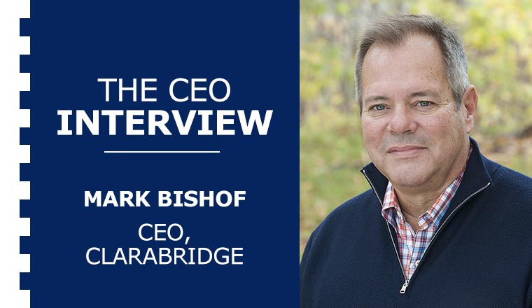 An image of the CEO of Clarabridge, Mark Bishof