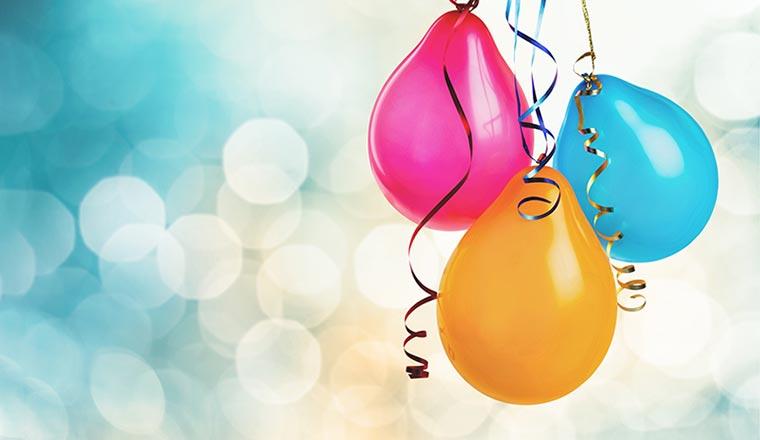 3 pretty balloons