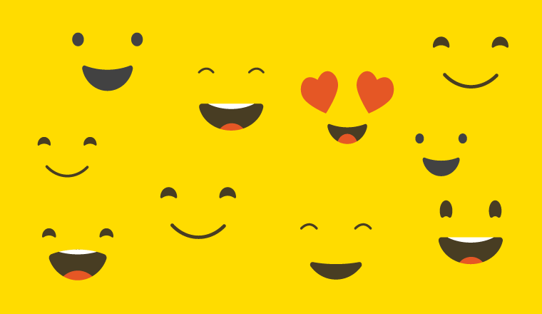 A collection of animated smiley faces
