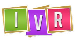 letters spelling IVR