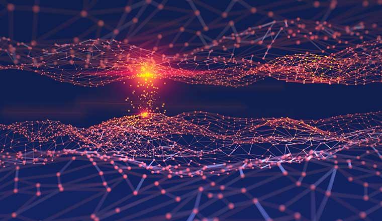 Artificial digital neural network. Blockchain technology.