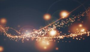 A trail of lit up dust
