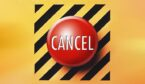Cancel button in red