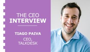 A thumbnail image of the CEO of Talkdesk, Tiago Paiva