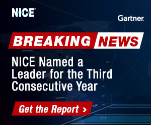 NICE named a leader for the third consecutive year