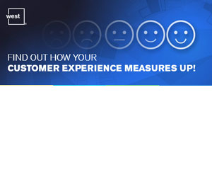"A range of faces are behind the text ""Find out how your customer experience measures up"""