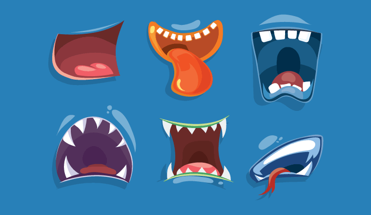 6 scary monster mouths