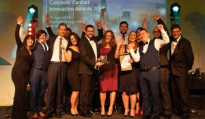 RBS members collecting the prize for the Innovation Award for Digital Transformation