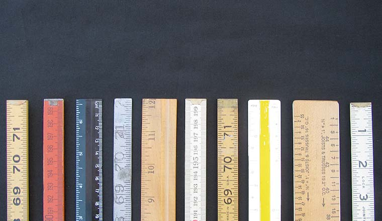 Rulers both metric and inches