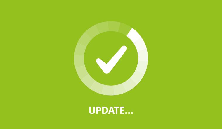 A picture of a update icon green