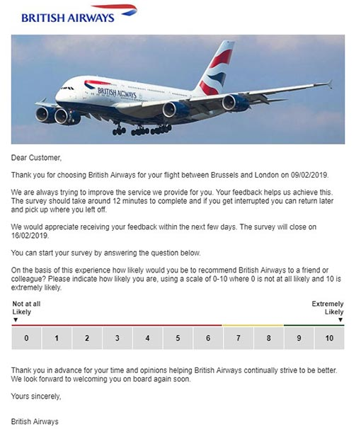 A photo of a BA confirmation email