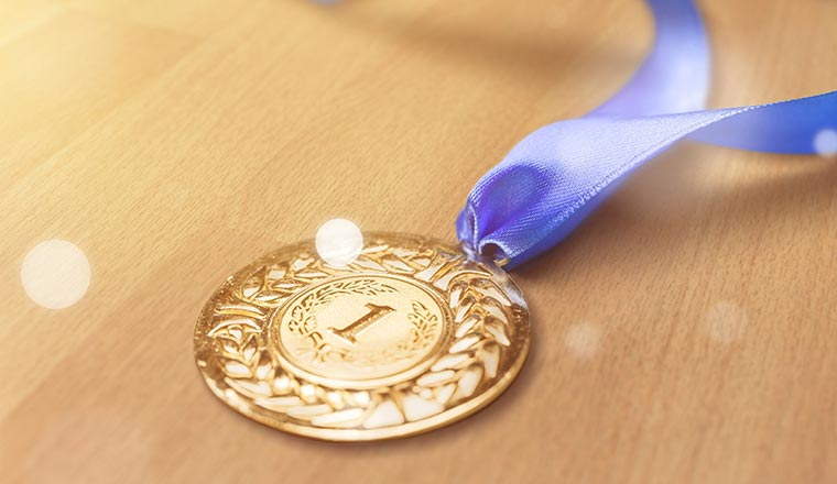 A first place golden medal