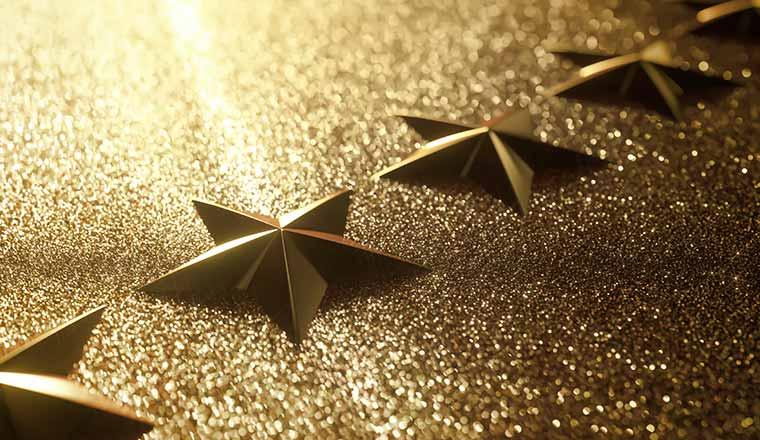 A photo of glittery stars