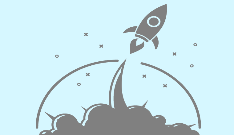 A picture of a rocket ship illustration