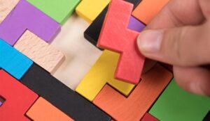 A picture of a tetris puzzle