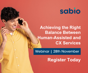 sabio webinar on achieving the balance between human assisted and CX services