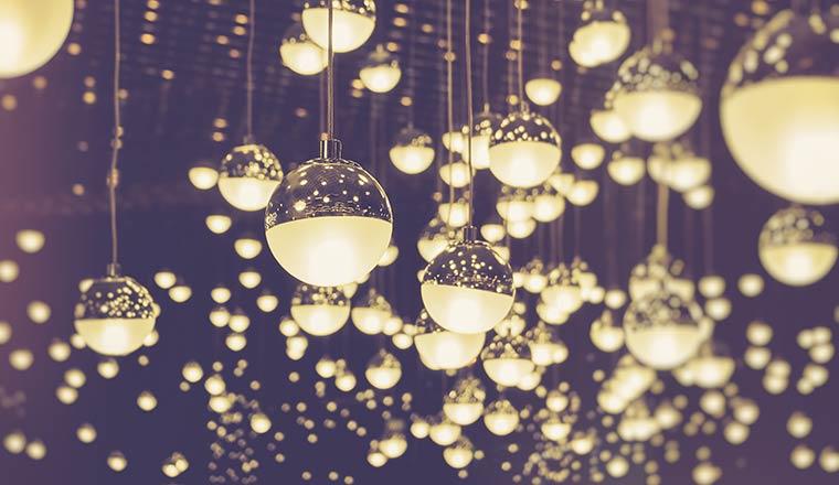 A photo of light ball balls