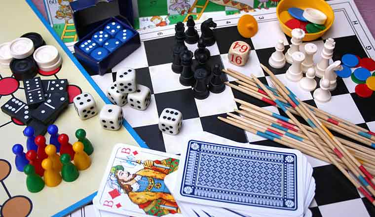 A collection of different game pieces
