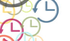 A group of clock faces