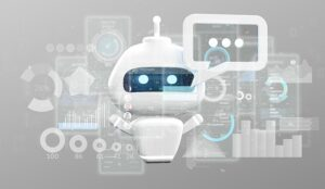 chatbot on grey background