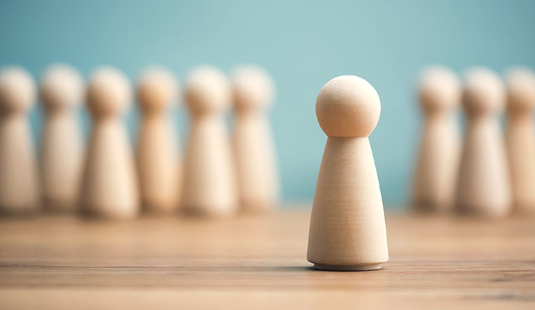 A photo of a chess piece