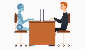 A picture of a human and robot working side-by-side