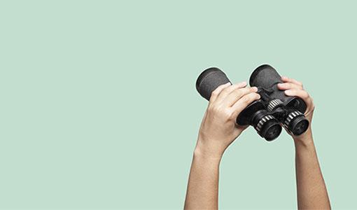 A photo of binoculars