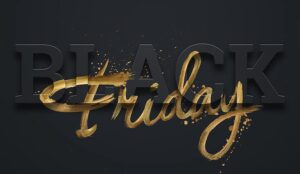 A picture of a Black Friday sign