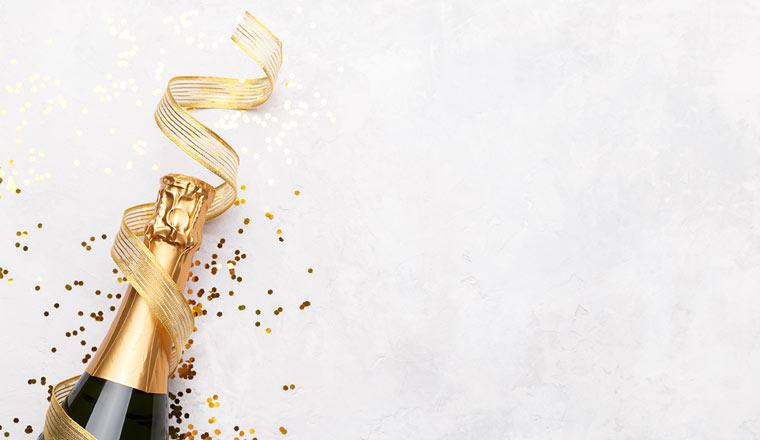 A picture of champaign to celebrate