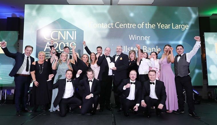 large contact centre of the year winners at ccnni awards
