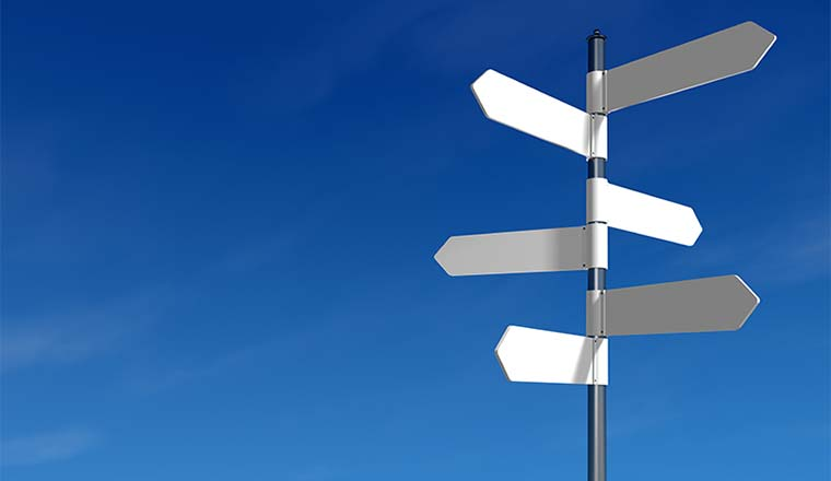 A photo of a signpost