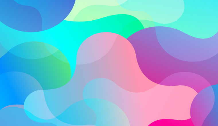 A picture of abstract shapes filled with different colours