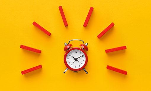 A photo of an alarm clock