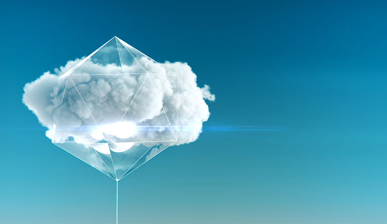 A photo of a crystal forming around the cloud