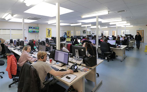 A photo of The Dogs Trust's contact centre floor