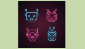 A picture of robot heads