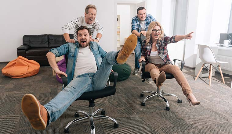 A photo of office fun