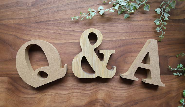 A photo of q&a letters