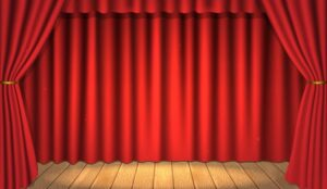 A picture of the centre stage in a theatre