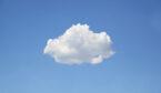 A photo of a cloud on a blue sky